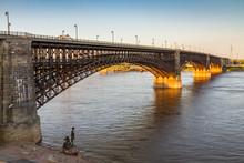 Eads Bridge Over The Mississippi River, St. Louis, Missouri
