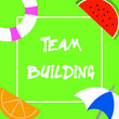 canvas print picture - Text sign showing Team Building. Conceptual photo Types of activities used to enhance social relations.