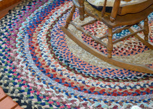Antique Vintage Braided Rug An...