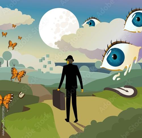 Fotografering surrealism landscape background