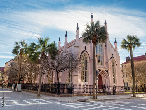 Fotomural French Huguenot Church in Charleston, South Carolina