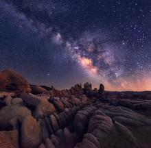 Milky Way Over Johua Tree National Park In Arizona