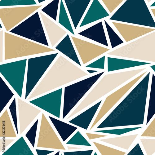 Geometryczny wzór trójkąta w turkusowy i złoty