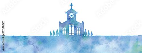 教会のシルエットのイラスト