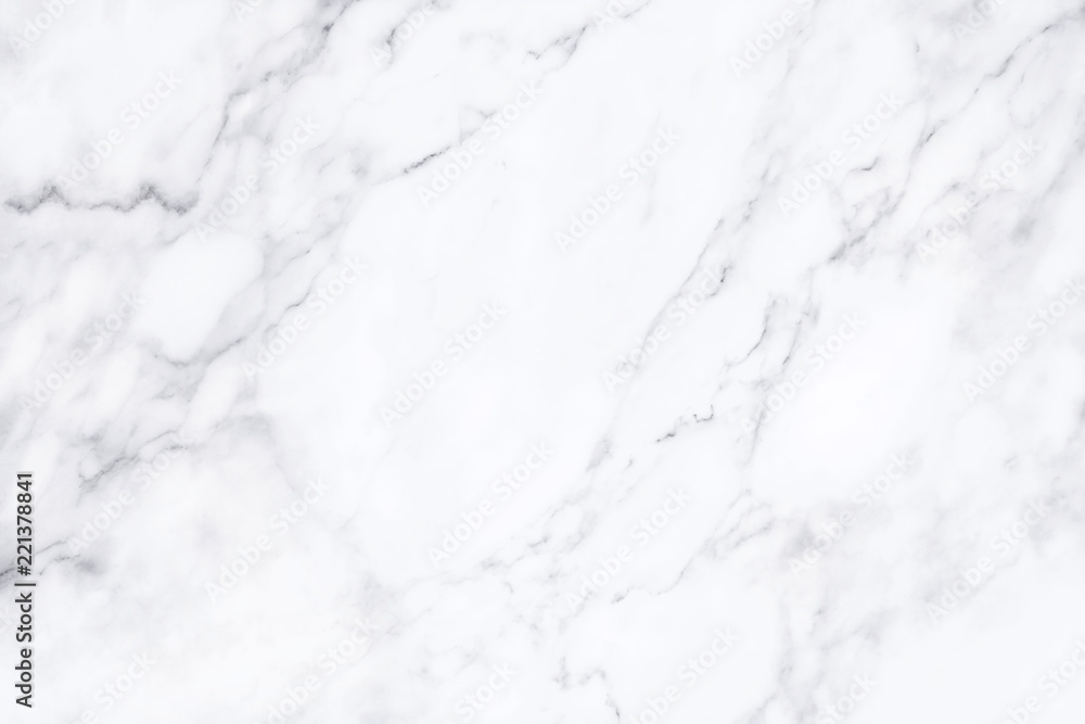 Fototapeta White marble texture with natural pattern for background.