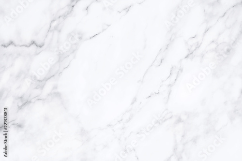 fototapeta na lodówkę White marble texture with natural pattern for background.