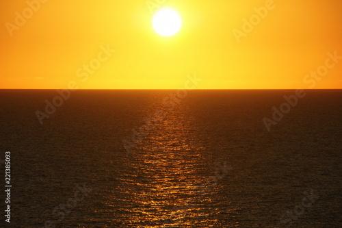 Spoed Foto op Canvas Zee zonsondergang Playa Larga Cuba. Bay of Pigs. Caribbean sunset