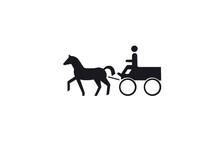 Illustration Of A Man Riding A...