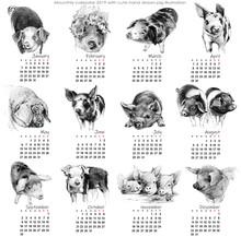 Calendar 2019. Cute Monthly Ca...
