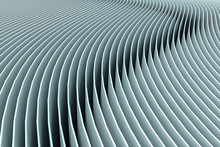 Sheets As Curved Lines, 3d Illustration