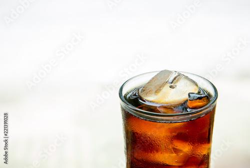 Kuchenruckwand Aus Glas Mit Foto Cold Cola Soda Drink With Ice Cubes