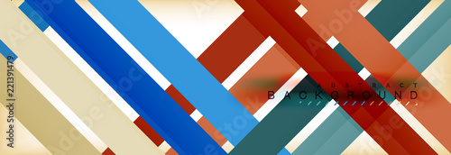 Fototapety, obrazy: Line abstract background, vector modern template