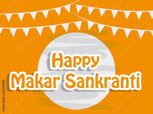 Fotografía illustration of background for the occasion of hindu festival Makar Sankranti ce