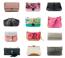 Clutches Collection Isolated On White Background.Front View.