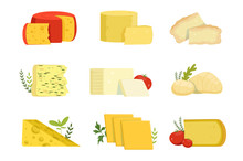 Different Types Of Cheese Piec...