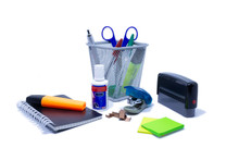 Office Supplies Isolated On White Background - Collection Supplies