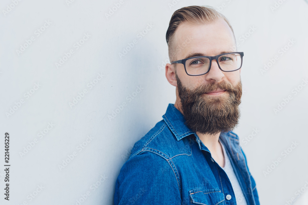 Fototapety, obrazy: Handsome young man thinking and looking away