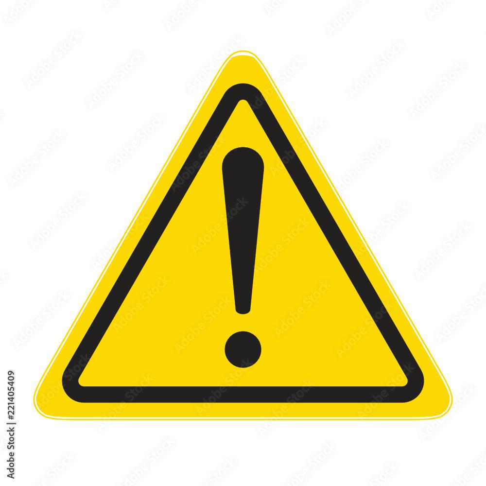 Fototapeta technical warning sign; hazard!
