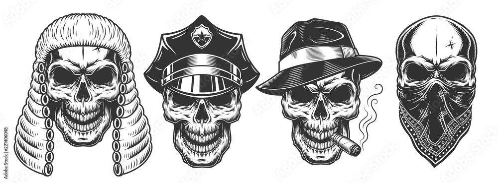 Fototapeta Set of skull