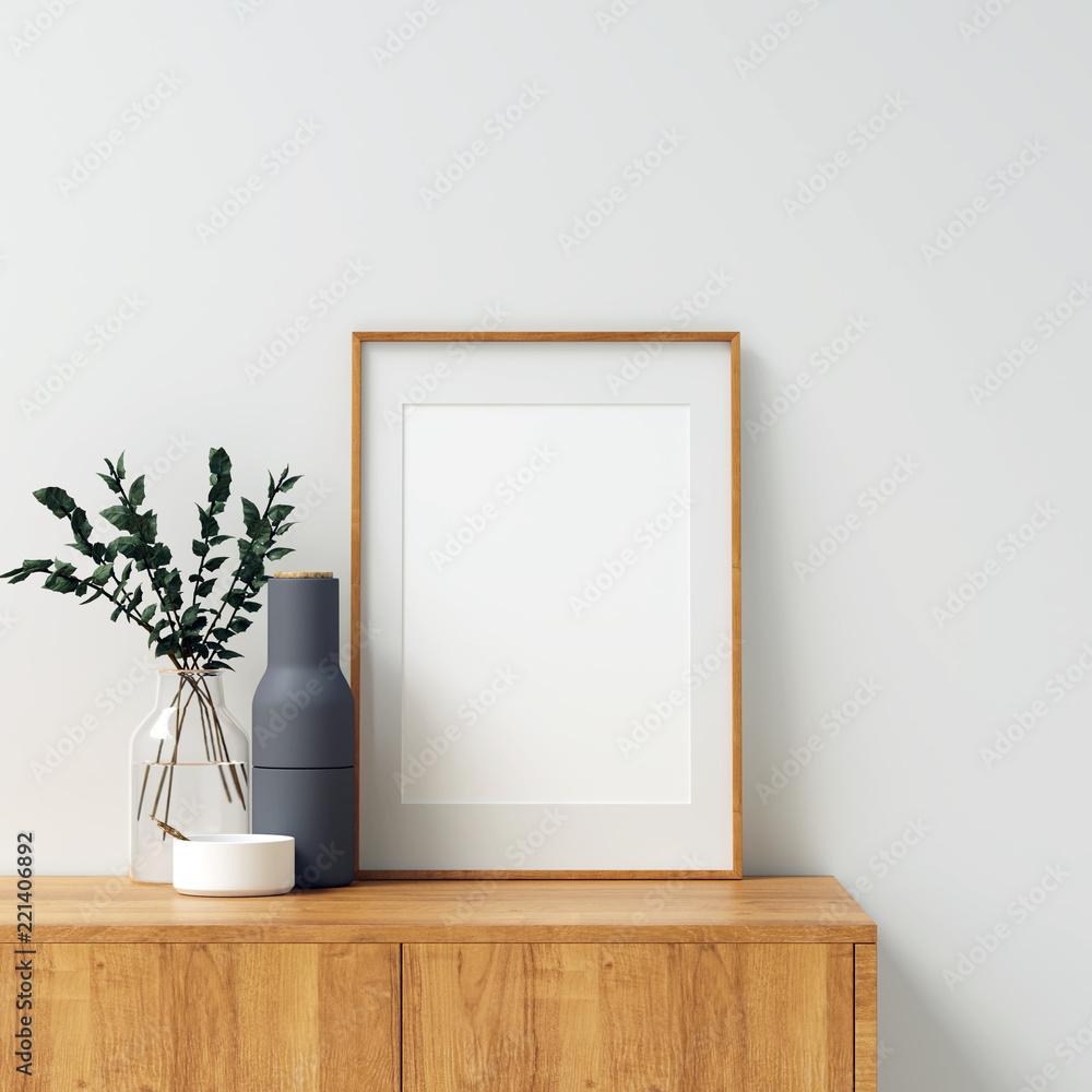 Fototapeta Frame Mockup Interior Scene