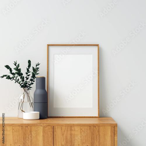 Obraz Frame Mockup Interior Scene - fototapety do salonu