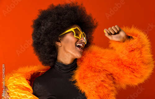 Fotografia Beautiful african woman studio portraits, concept about lifestyle and beauty