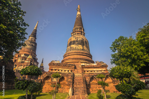 Ayutthaya - October 15, 2014: Ancient temple in the historic city of Ayutthaya, Thailand