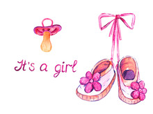 Pink Shoes With Flowers Hangin...