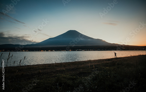 Spoed Foto op Canvas Asia land Fuji mountain view. The most famous mount in japan