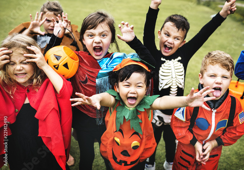 Little kids at a Halloween party Canvas-taulu