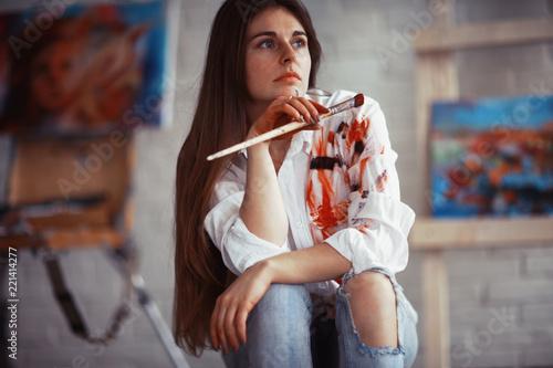 Fotografia  Drawing pictures creative portrait artist process