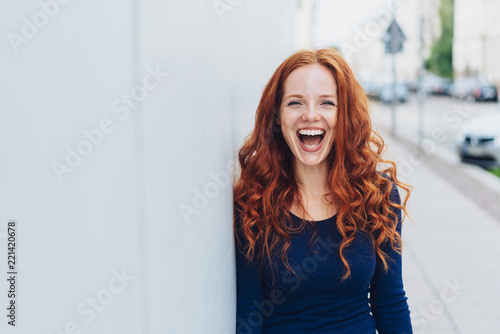 Cute young woman with a lovely sense of humour Canvas Print