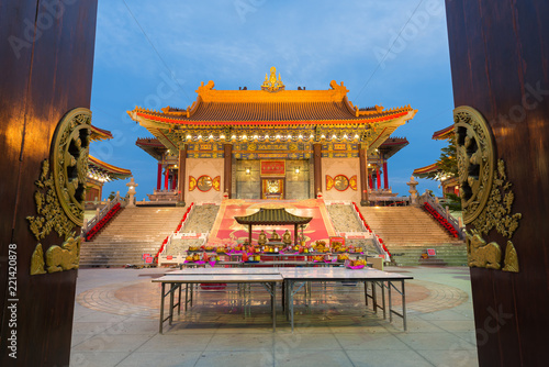 Staande foto Bedehuis Wat Mangkon Kamalawat,Temple in Chinese style in Bangkok.