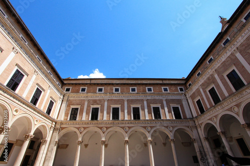 Foto  Urbino, Italy, ducal palace, ancient and historical medieval city