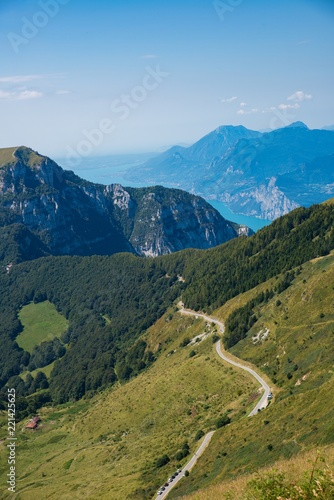 Mountain road and trail to Monte Altissimo Wallpaper Mural