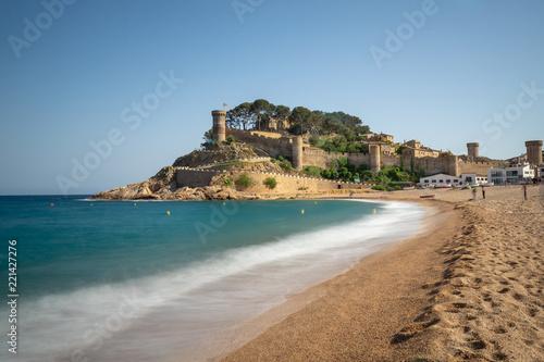 Castillo del siglo XIII situado en Tossa de Mar, Gerona, España