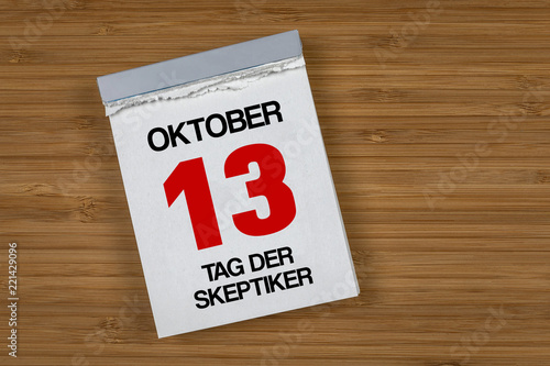 Tag der Skeptiker 13. Oktober Canvas Print