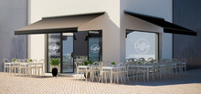 Cafe Facade Store With Terrace...