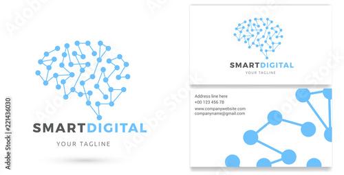 smart digital digital services logo business card technology internet marketing vector logo buy this stock vector and explore similar vectors at adobe stock adobe stock internet marketing vector logo