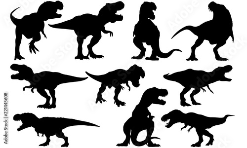 Tyrannosaurus Dinosaur svg files cricut,  silhouette clip art, Vector illustrati Wallpaper Mural