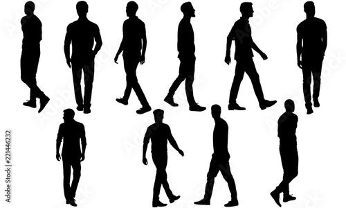Photo  Man Walking Silhouette, Man Walking Clipart, SVG, cut file, cricut, vector svg d