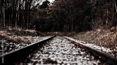Foto op Canvas Spoorlijn Eisenbahnschienen