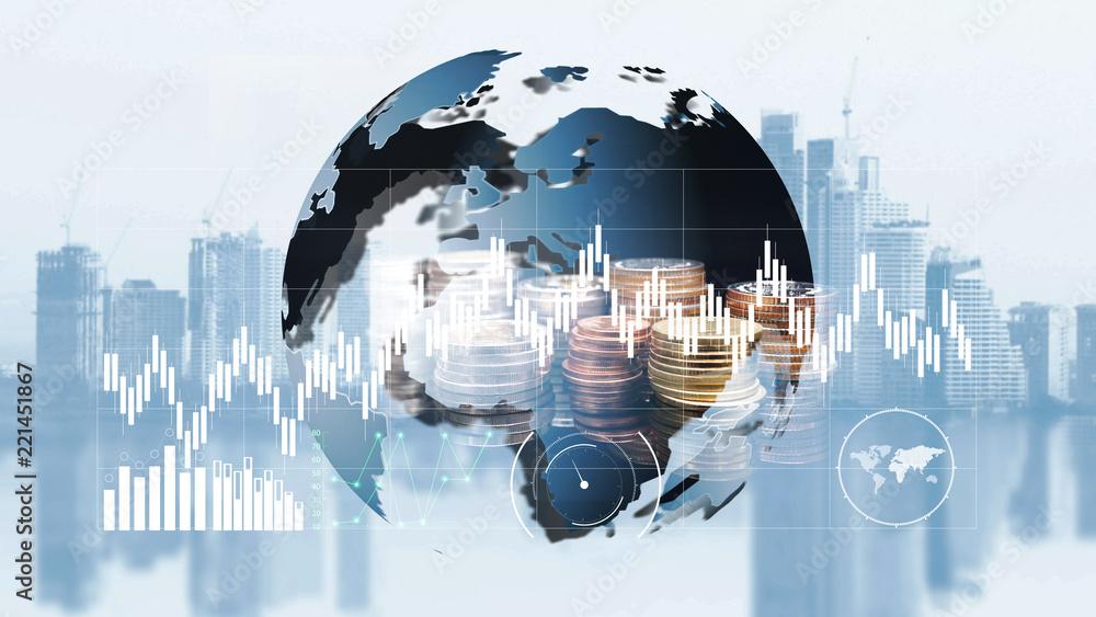 Fototapeta world finance moeny exchange
