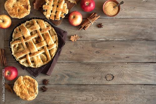 Spoed Foto op Canvas Dessert Apple Pies
