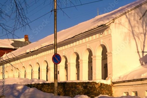 Poster Oude gebouw Ancient buildings in the city of Kostroma, Russia, The Golden Ring.