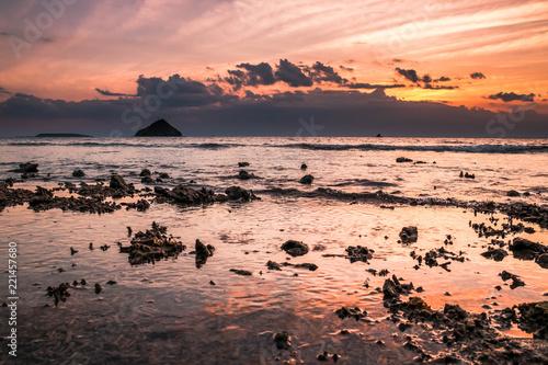 Atardecer en Pulau Kenawa, Indonesia.