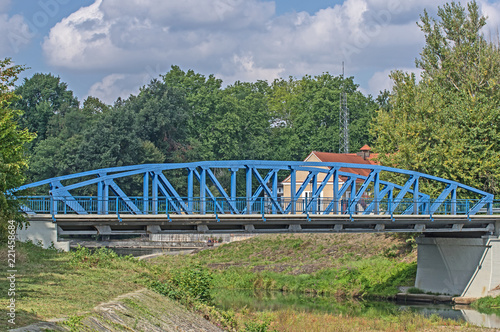 Poster Bridges Metalowy most, drogowy.