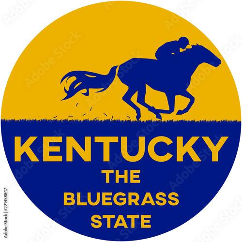 Photo  kentucky: the bluegrass state   digital badge