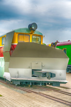 Snow Cleaning Locomotive, Special Train For Snow Removal