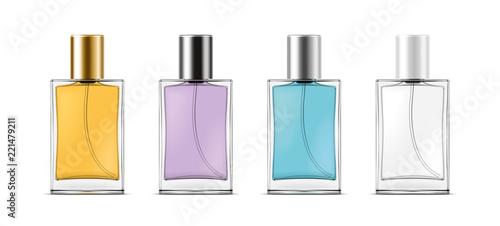 Fototapeta Bottles with perfume. Small bottles version obraz na płótnie